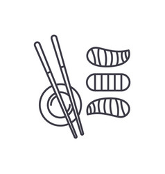 sushi line icon concept sushi linear vector image