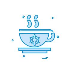 tea icon design vector image