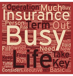 Term Life Insurance For Business Owners Or Key vector
