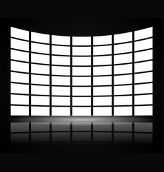 Video wall with distortion vector