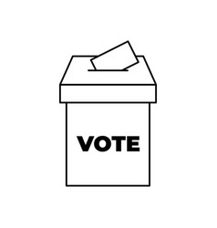 Vote box or ballot box icon isolated on white vector
