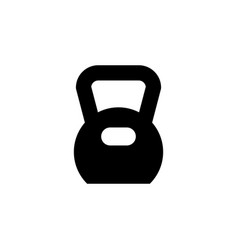 weight for sport glyph icon vector image