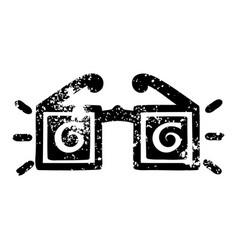 X ray specs icon vector