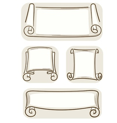 banners in old style vector image