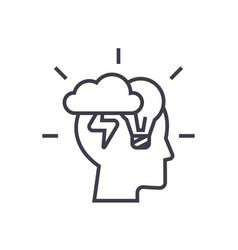 brainstorm head linear icon sign symbol vector image vector image