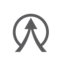 circle arrow up logo vector image vector image