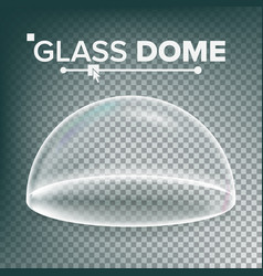 dome advertising presentation glass vector image