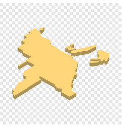 map of miami isometric icon vector image