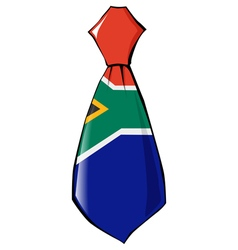 necktie in national colours of South Africa vector image