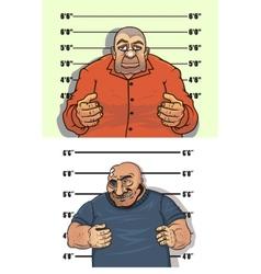 Police mug shots of thief and bandit vector image