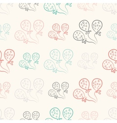 Seamless pattern with balloons Vintage doodle vector image