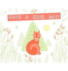 animal greeting card vector image