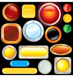 Blank Web Buttons Knobs Image vector image vector image