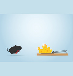 businessmouse jumping into mousetrap vector image vector image
