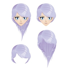 Girl with violet hair vector image