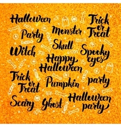 Halloween Gold Lettering Design vector image vector image