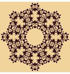 Handmade mandala of water stains ink blobs vector image vector image
