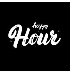 Happy Hour hand written lettering vector image vector image