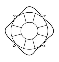 life buoy marine symbol thin line vector image