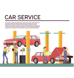 automobile service and vehicle check vector image