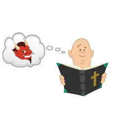 Bible Devil vector image