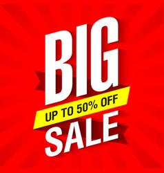 Big Sale banner design template vector image vector image