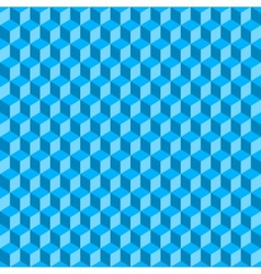 Blue 3d cubes abstract seamless background vector