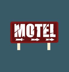motel retro street signboard vintage banner vector image