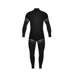 Diving suit in black design vector