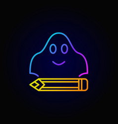 ghost writing colorful concept icon vector image vector image