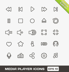 Media player icons set vector