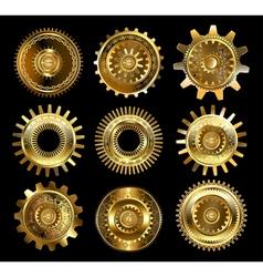 Set of Complex Gears vector image vector image