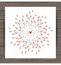 Valentines day cards with heart and arrows vector image vector image