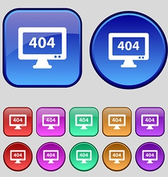 404 not found error icon sign A set of twelve vector image