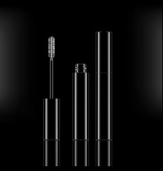 Abstract cosmetics beauty series premium mascara vector