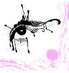 Abstract eye design vector