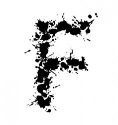 Alphabet ink f vector