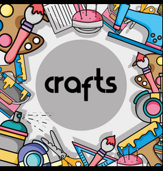 Art and craft creative object design vector