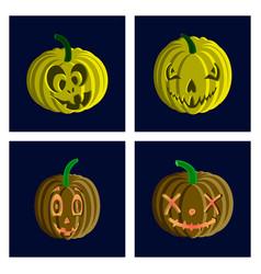 assembly flat halloween pumpkin vector image