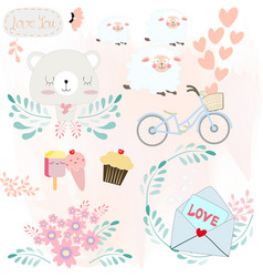 baby catoon icon or sticker vector image