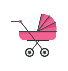 Baby stroller icon flat style vector