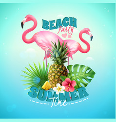 Beach party background vector