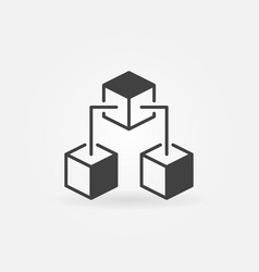 Blockchain cubes concept icon or symbol vector