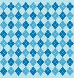 Blue argyle diamond sweater seamless pattern vector