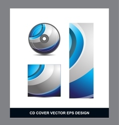 Blue silver grey Cd Dvd cover design vector