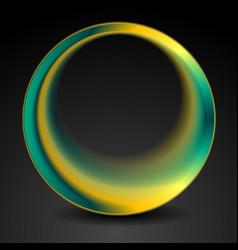 Bright turquoise and orange round circle logo vector