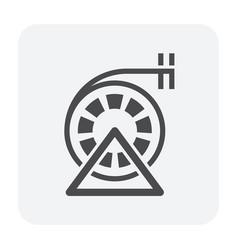 Brush icon black vector