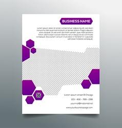 Business flyer template - creative purple design vector