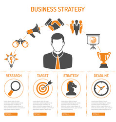 business strategy process concept vector image
