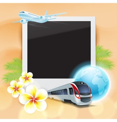 Concept travel card vector image